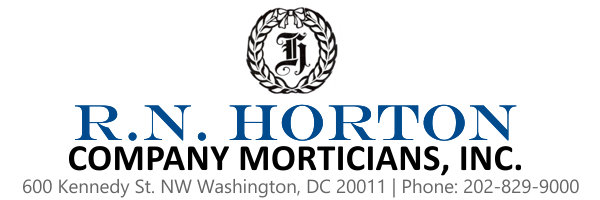 R.N. Horton Company Morticians, Inc. | 202-829-9000 | Washington, DC